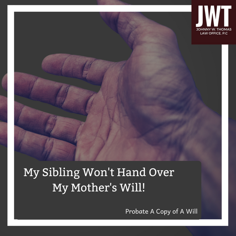 My Sibling Won't Had Over My Mother's Will