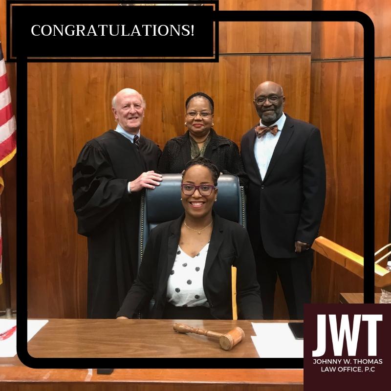 Congratulations Johnny W Thomas Law Office P C