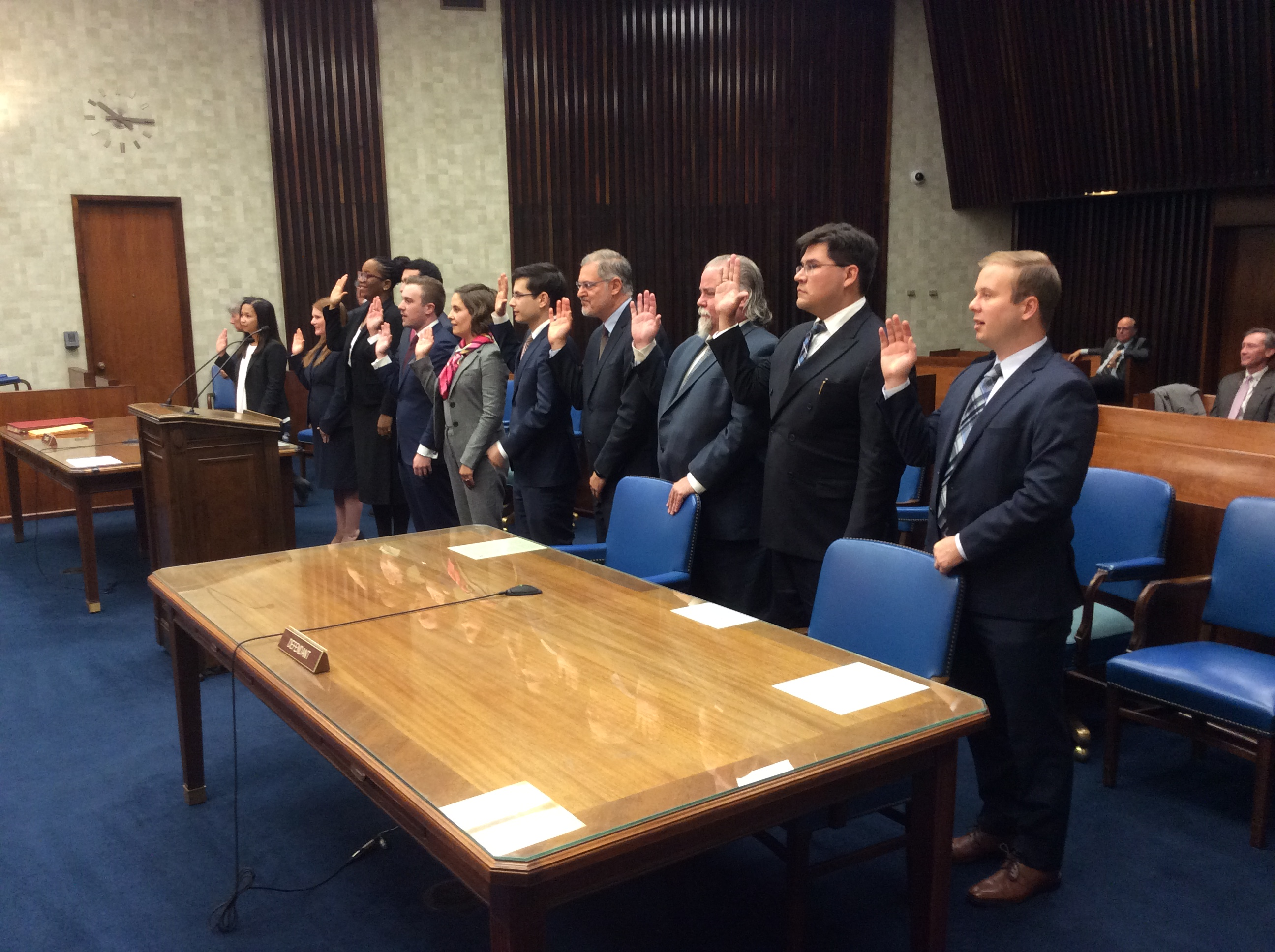 Newly admitted attorneys taking their oath